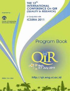 QiR 2011 Proceeding